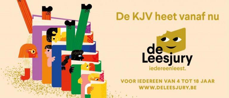Logo de Leesjury - Vorm: Kris Demey - Illustraties: S. Vanbelle